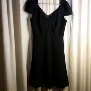 Next black dress flare skirt made in UK